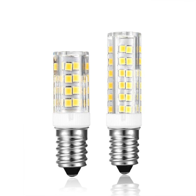 Lámpara LED 10X E14 4W 52LEDS 6W 76LED 220V Bombillas LED bombilla de maíz SMD2835 cristal candelabro E14 bombilla halógena de reemplazo