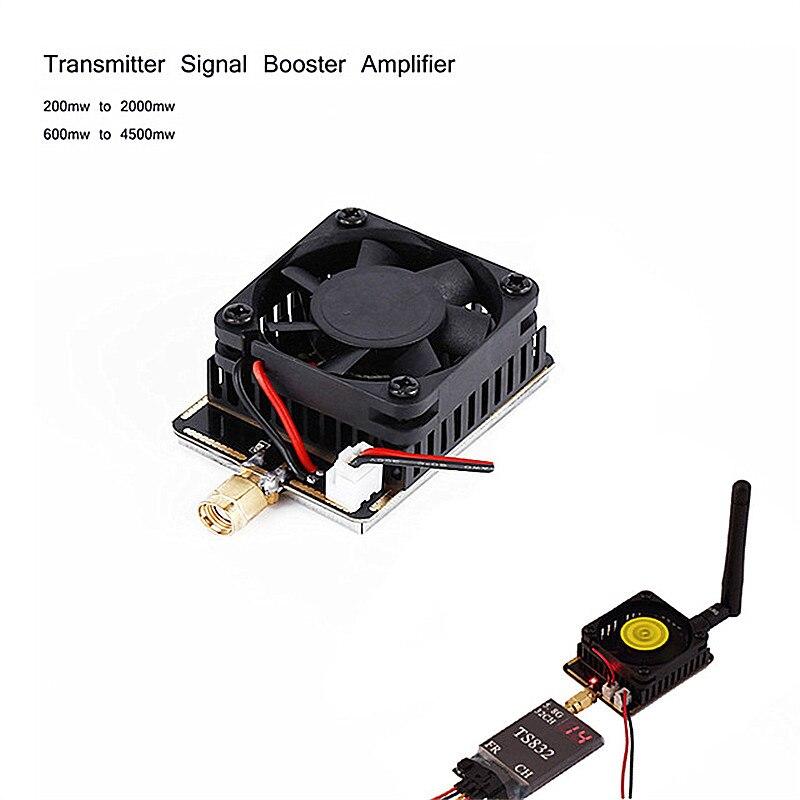 5.8g 3 w/4.5 w Estender o Alcance do Sinal De Reforço Amplificador Transmissor AV Sem Fio Para FPV RC helicóptero