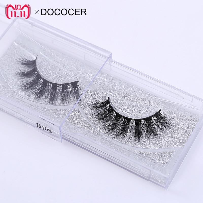 1 pares cruelty free natural cílios postiços cílios maquiagem longo 3D D108 mink lash extensão dos cílios cílios para a beleza