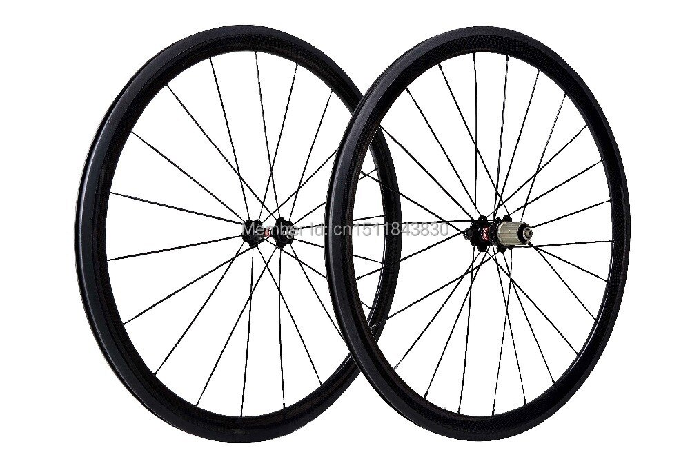 Bicicleta mejor calidad 38mm fibra de carbono ruedas clincher 3k brillante acabado rueda envío gratis