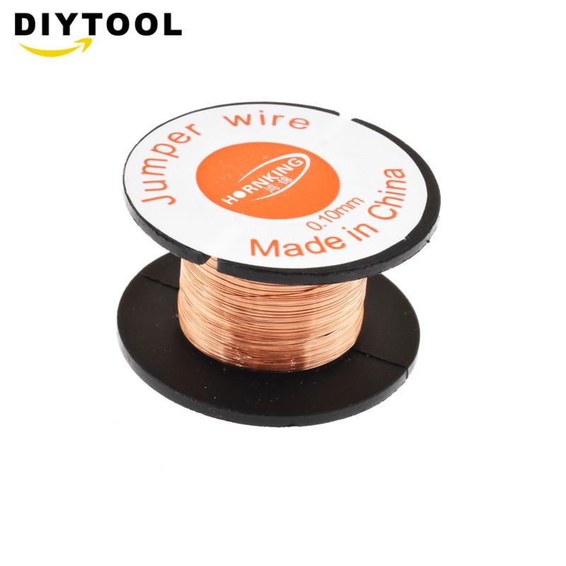 0.1MM Copper Soldering Solder PPA Enamelled Repair Reel Wire Fly Line 0.1MM Copper Solder Wire