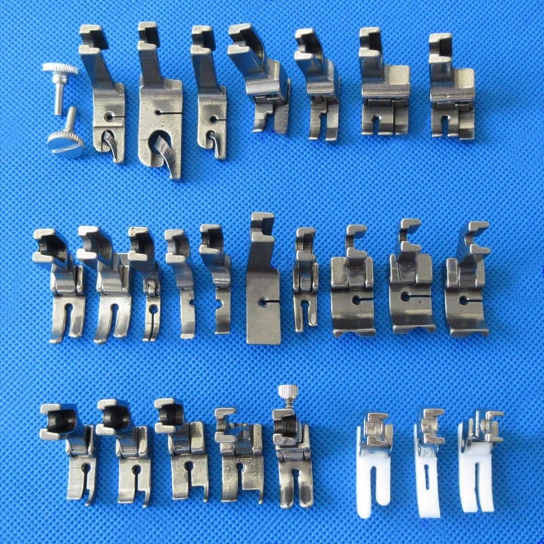 25pcs/set  Industrial Sewing Machine Presser Foot for JUKI DDL-5550 8500 8700 9000