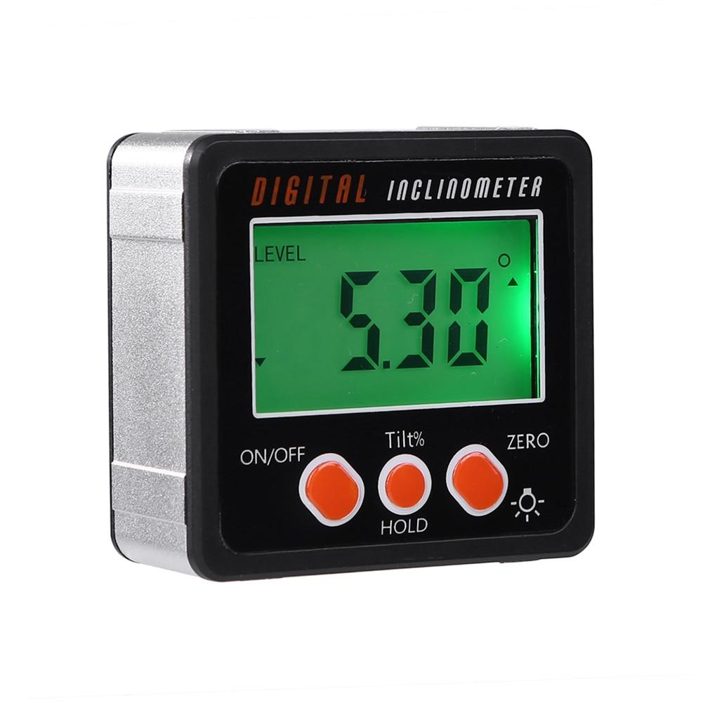 Inclinómetro Digital, inclinómetro Digital de precisión, inclinómetro, caja de nivel a prueba de agua, ángulo Digital, buscador, caja cónica