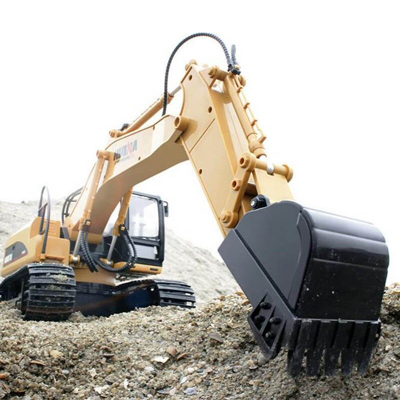 2020 Brand New Toys 15 Channel 2.4G 1/14 RC Excavator Charging RC Car With Battery RC Alloy Excavator RTR For kids enlarge