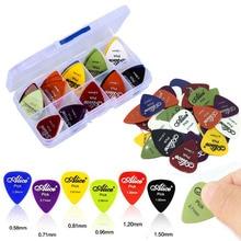 Guitar Picks 30Pcs/Set Electric Guitar Pick Acoustic Music Picks Plectrum 0.58/0.71/0.81/0.96/1.20/1.50mm Guitar Accessories
