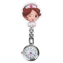 Bande dessinée infirmière horloge Quartz montre de poche rétro pour femmes hommes en acier Clip chiffres arabes cadran pendentif montre pour infirmières médecins