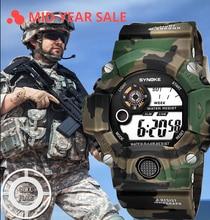 LED Sport Watch for Men military Waterproof Altimeter Compass Wrist Watch Stopwatch Fishing Barometer Pedometer Male Watch
