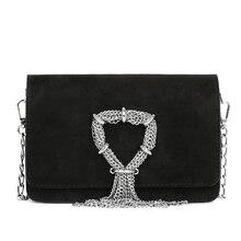 Trend new Women bag fashion metal tassel decoration Women shoulder bag crossbody bag solid color casual Women handbag bag