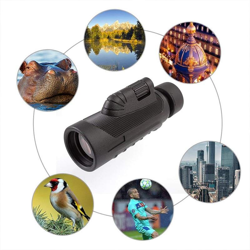 Datyson 10x42 HD Telescópio Monocular Alta Potência Fog-prova À Prova D Água Âmbito para Adultos Observação de Aves de Caça de Acampamento viajar