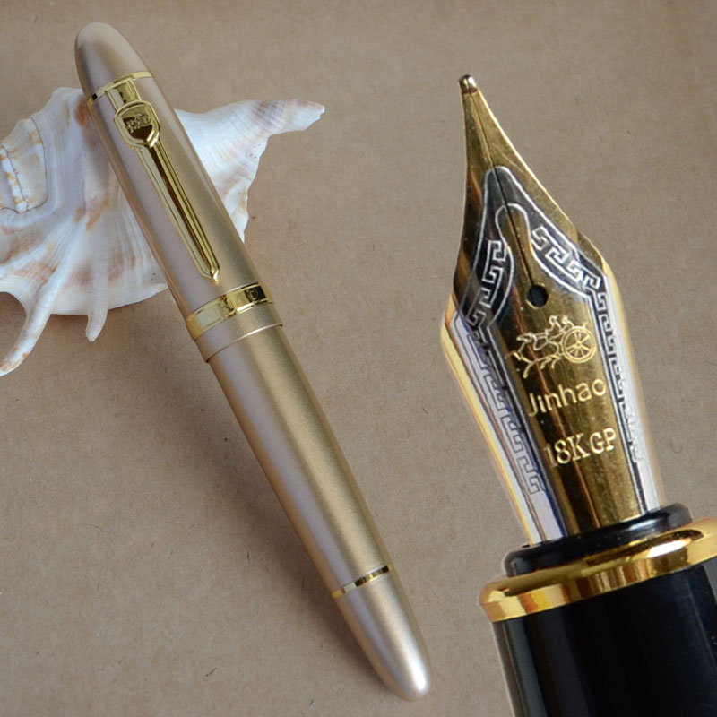 JINHAO 159 champán y pluma estilográfica mediana dorada verde naranja blanco negro plata 19 colores para elegir