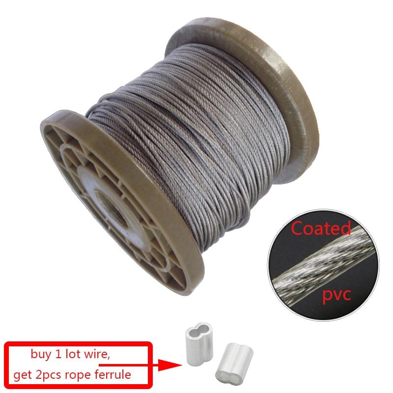 Cable Flexible recubierto de PVC, 5 metros de acero inoxidable, suave, transparente,...