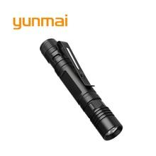 yunmai Mini Portable XPE LED Flashlight Torch Pocket Handy Light Waterproof Lanterna Outdoor Camping Light Using 1*AAA