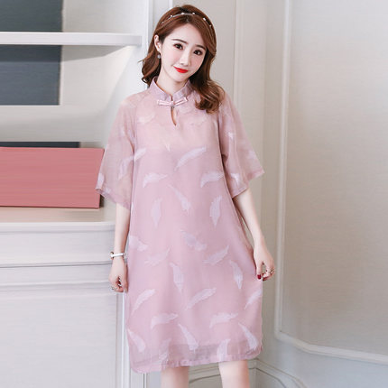 chinese Cheongsam For Pregnant Women Summer Traditional Style Cotten Qipao Maternity Dresse Maternity Clothes Christmas GiftZ788 enlarge