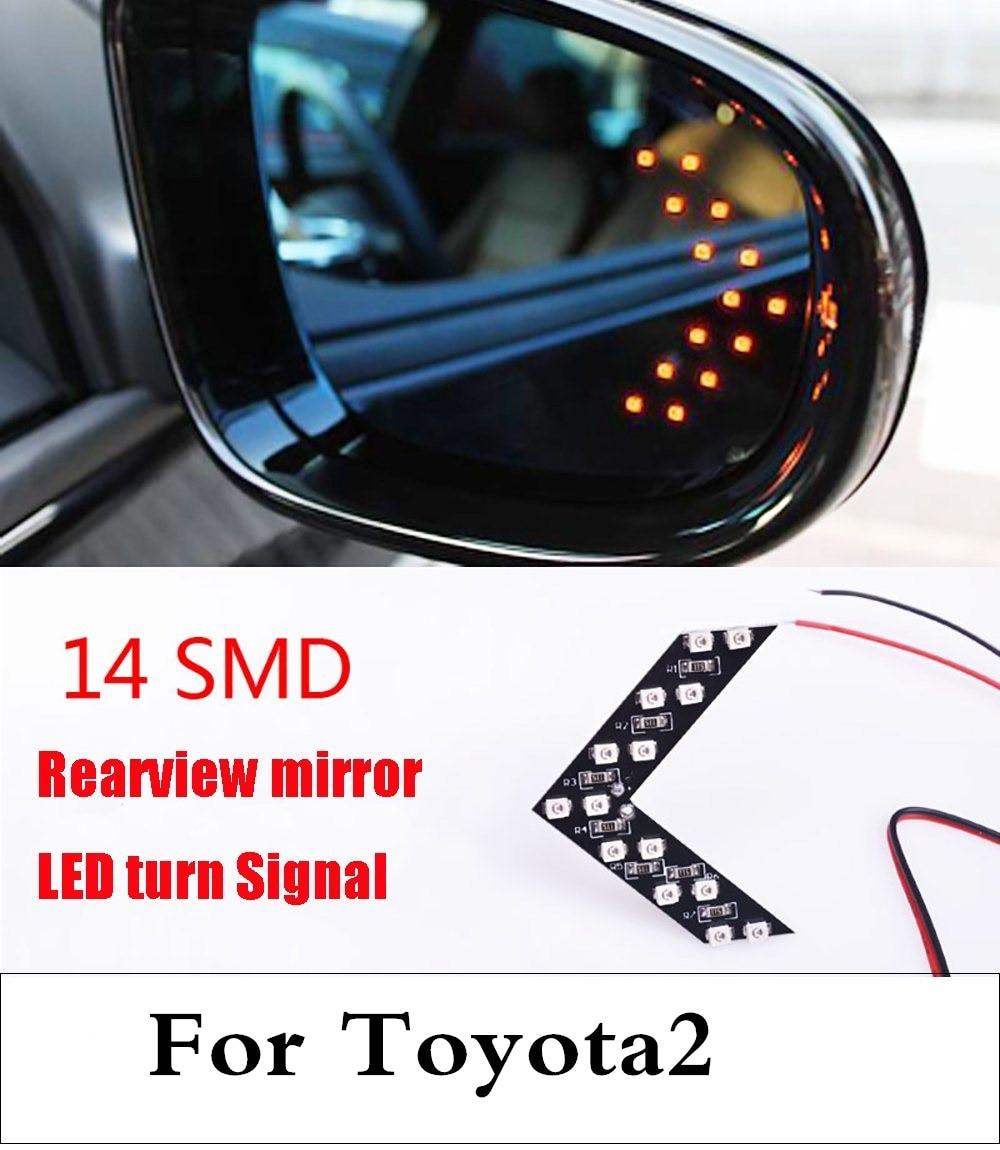 Nueva lámpara de flechas indicadoras, paneles de seguridad, luz de giro de espejo lateral de coche para Toyota Sequoia Soarer Sprinter Carib Succeed Urban Cruiser