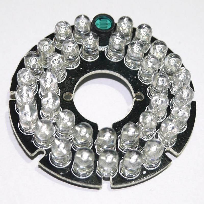 90 degrees CCTV Accessories infrared light 36 Grain 850nm IR LED board for Surveillance cameras night vision diameter 53mm