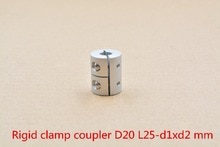 D20 L25 trou minimum 2mm maximum 10mm   Tige darbre de couplage rigide, section de coupleur, moteur stepper, machine à graver, vis
