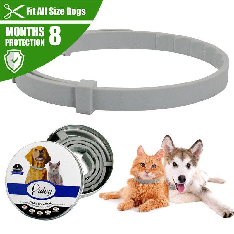 Coleira anti-mosquitos para cachorro, coleira anti-lã ajustável para animais de estimação, 8 meses de proteção a longo prazo xnc