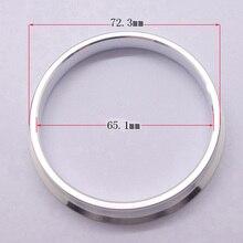Teèze-anneaux en alliage de 72.3mm à 65.1mm   4 pièces despacement de roue personnalisée, anneaux centrés Hub
