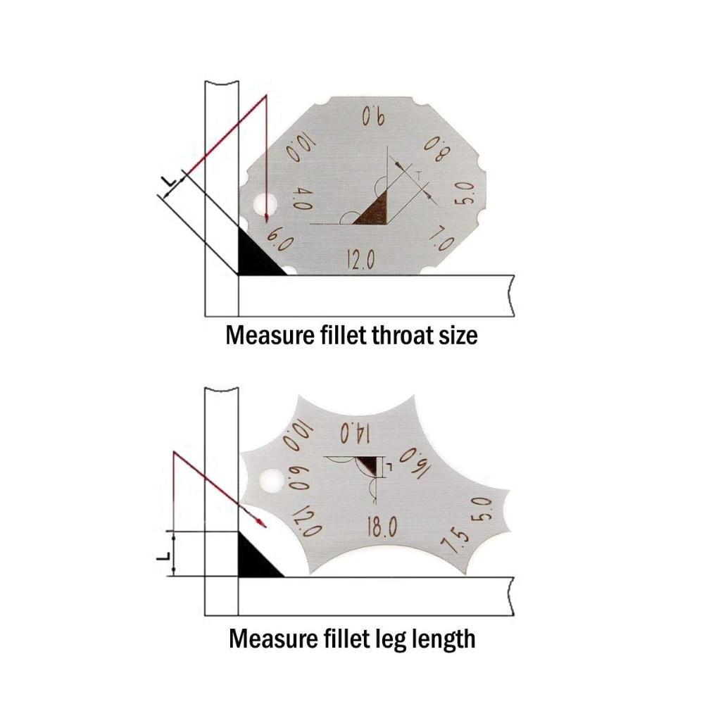 Pocket Fillet Weld Gage Welding Gauge Key Weld Seam Test Ulnar Measure Tool Ws Original Metric Standard Selection Gauges Aliexpress