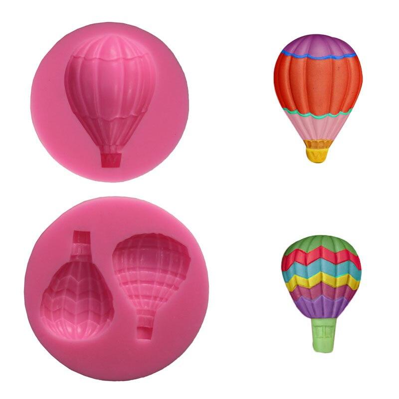 Molde de silicone em forma de balão, de ar quente, para fondant, cupcake, açúcar, artesanato, pirulito, chocolate, pasta de goma, molde, diypresente, ferramentas de decoração