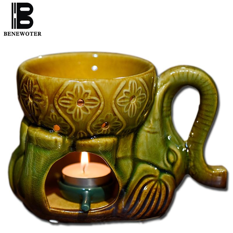 100ml, vela de cerámica de gran capacidad, lámpara de aromaterapia, horno para incienso, quemador de Yoga, SPA, decoración de Hotel, Aroma, soporte de aceite esencial