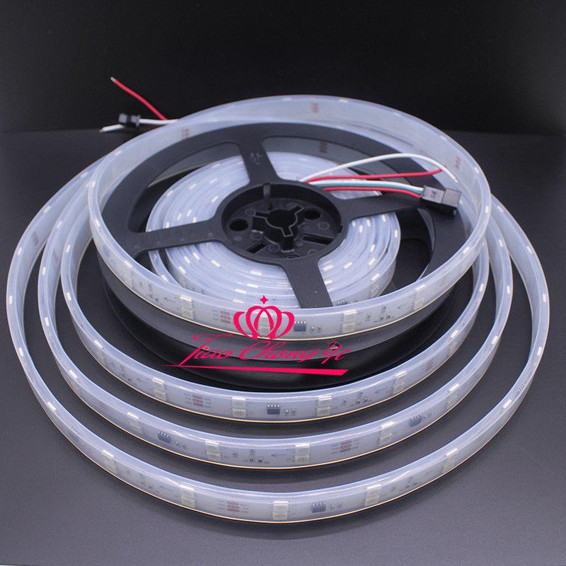 Bande lumineuse individuelle époxy 300, étanche IP65, 5M LED 5050 WS2812B LED 5V