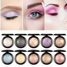 Gebacken Lidschatten Palette Make-Up Augen Pigmentierte Lange anhaltende Wasserdicht Professionelle Shades Machen Up Schimmer Rot Lidschatten Pallete