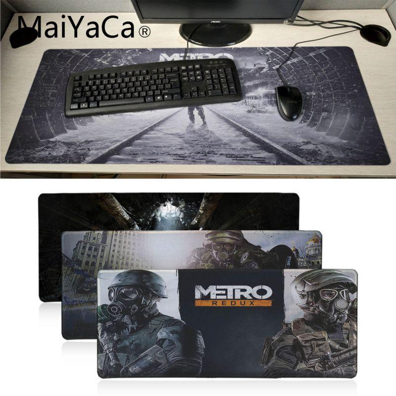 Maiyaca Metro 2033 papel de ratón de goma Durable de ordenador portátil para jugador Mousepad superventas decorativa alfombra con diseño de ratón para escritorio de juegos