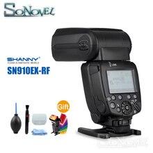 Shanny SN910EX-RF i-ttl HSS 1/8000 s GN60 Master/Slave 2.4G Radio Flash Speedlite sans fil pour Nikon D850 D810 D800 D750 D500 D5