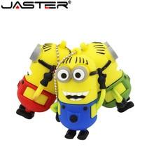 JASTER minions usb flash drive Leuke Despicable Me 2 pendrive USB 2.0 Pen Drive 4gb 8gb 16gb 32 gb Memory stick gift thumb drive