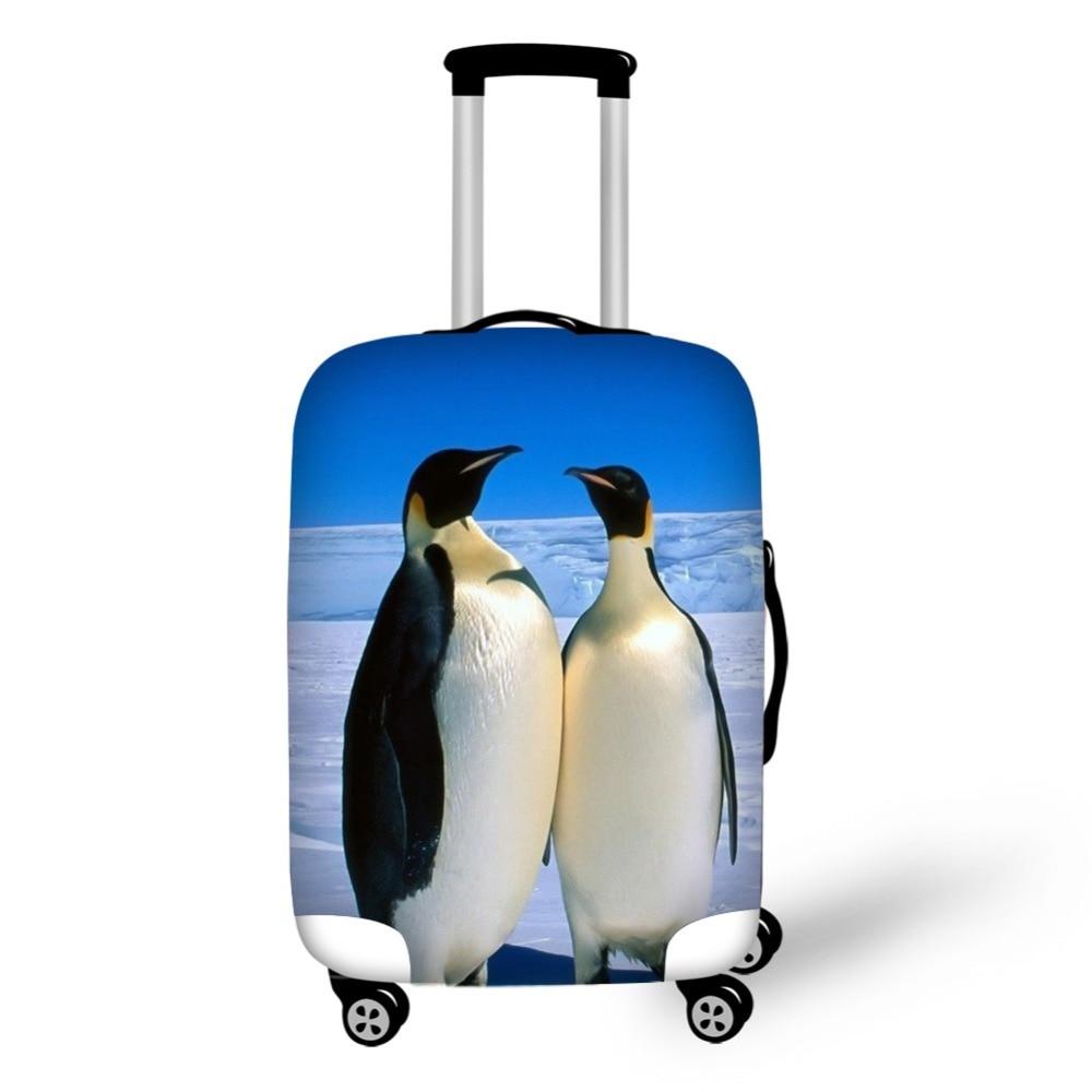 Животное Пингвин аксессуары для путешествий костюм чехол Защитные Чехлы 18-32 дюймов эластичный багажный пылезащитный чехол Чехол растягива... чехол