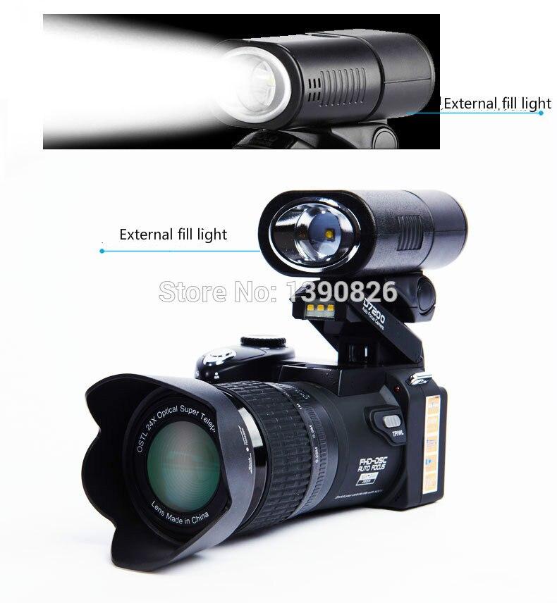 POLO-كاميرا رقمية sharpshot D7200 HD ، كاميرا تليفوتوغرافي 24 × ، زاوية واسعة ، بطارية ليثيوم واحدة ، ثلاث عدسات