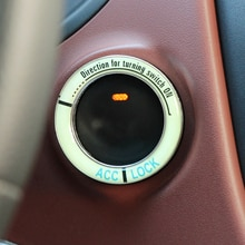 Lumiuous Car Engine Ignition Key Ring for Peugeot 206 307 406 407 207 208 308 508 2008 3008