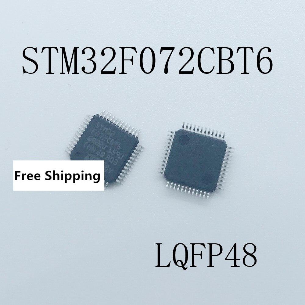 10 piezas X STM32F072CBT6 STM32F072 LQFP48 nuevo envío gratis