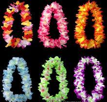Décoration de pom-pom girl flambant neuve   Collier en fleurs hawaïennes, collier couronne en fleurs artificielles, livraison directe