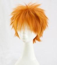 Anime Haikyuu!! Shoyo Hinata Cosplay perruque courte orange déguisement jouer perruques Halloween Costumes cheveux + perruque casquette