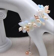 Livraison gratuite > charme! Riz forme perle / facettes Moonstone Teardrop perles Bracelet