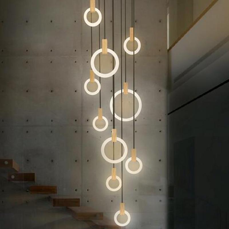 مصباح سقف led حديث وبسيط ، تصميم إبداعي ، إضاءة زخرفية داخلية ، مثالي لغرفة المعيشة ، الفيلا ، السلالم ، إلخ.