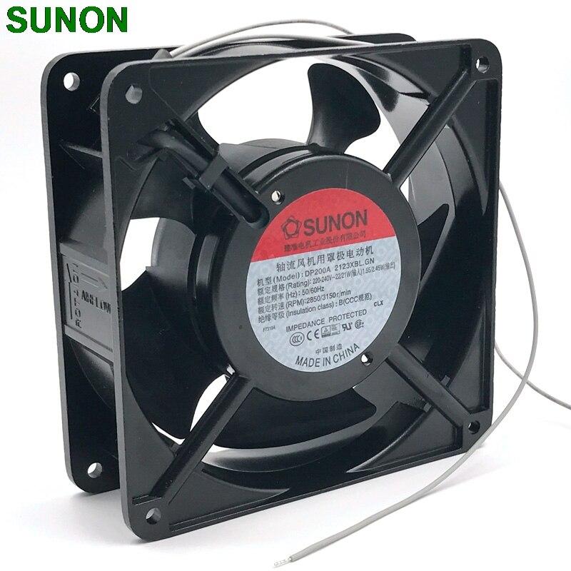 cooling fan 220v New SUNON 12038 DP200A 2123XBL exhaust fan 220V 12CM 120*120*38MM 1238 12038 double ball kitchen cooling fan new nmb original 12038 24v 0 46a 4715kl 05t b40 120 120 38mm cooling fan