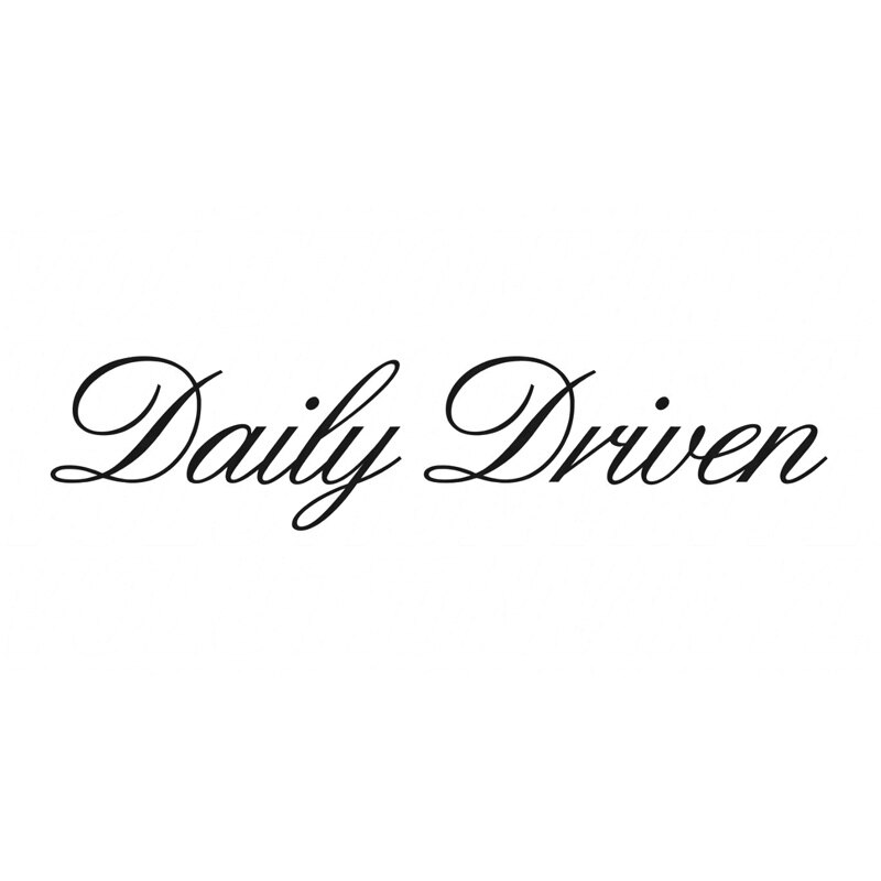 20.3*4.6CM Daily Driven Funny Text Car Sticker Vinyl Decals Motorcycle Car Styling C1-0289
