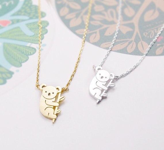 Moda Ouro Prata Personalizado Koala Australiano Colar de Alta Qualidade Colar de Pingente de Jogos Vorazes Mulheres Melhor Amigo