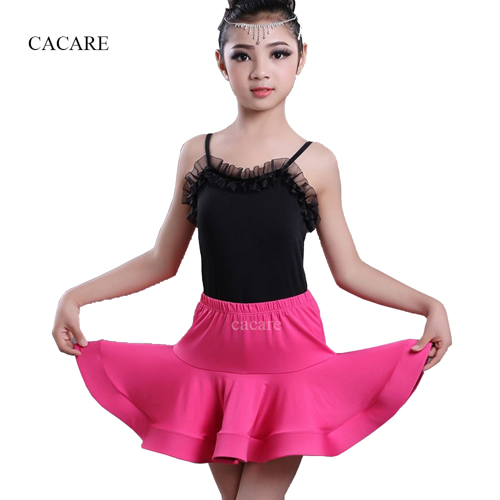 Latin Dance Dress for Girls CHEAPEST Tango Salsa Flapper Dress 2 Pieces Set Latin Skirt with Top Shirt D1000 Multi Colors