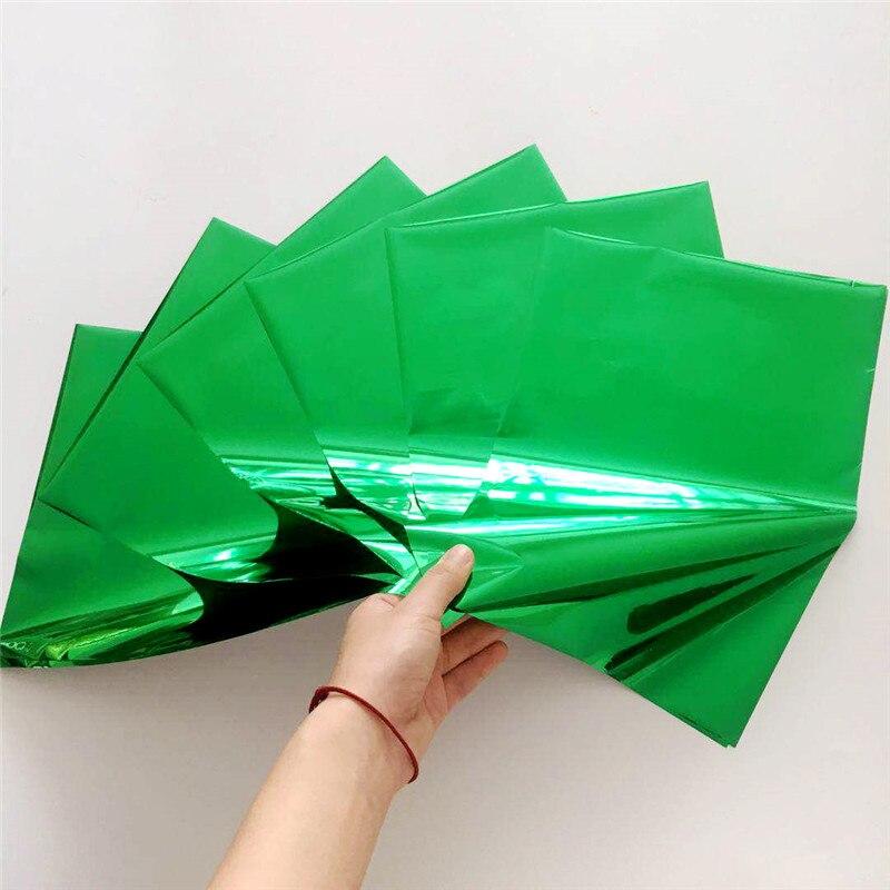 Myfoils 50 folhas a4 cor verde folha de carimbo quente para toner reative para a etiqueta/cartões de convite do casamento/cartões de visita