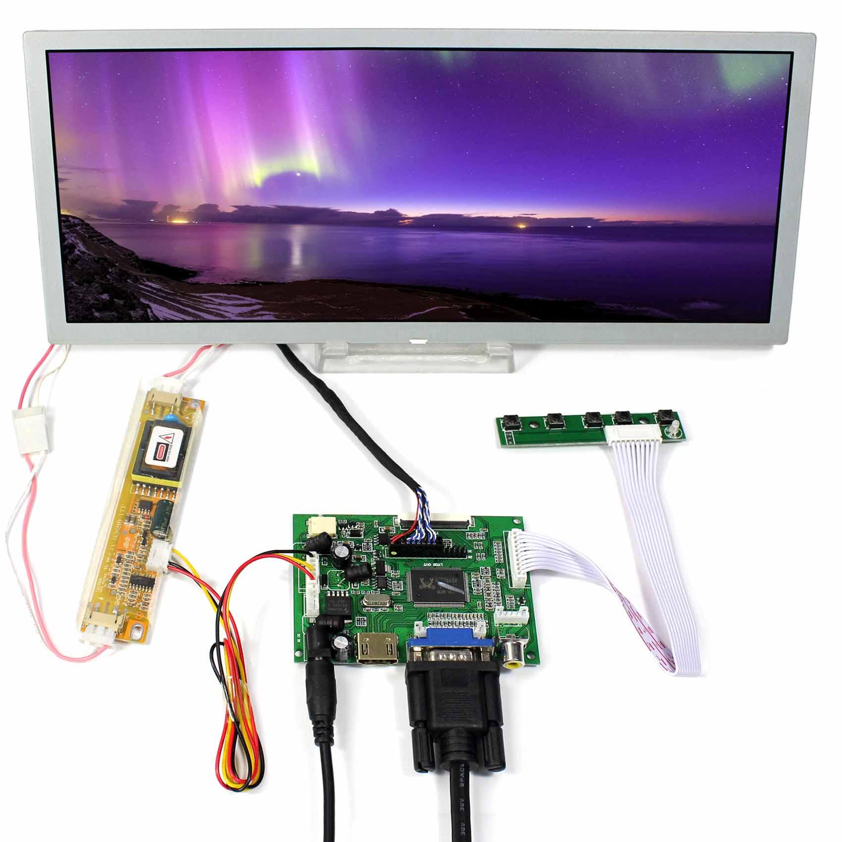 "12,3 ""1280x480 LQ123K1LG03 LCD Panel + HDMI + VGA + 2AV LCD Treiber-platine"