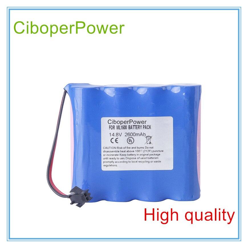 Los fabricantes venden batería ECG de repuesto para la batería de la máquina de electrocardiografía de 2600 mAH para ML1500 ML1100