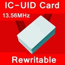 10PCS/LOT IC-UID Blank card IC-UID Chinese magic card 13.56MHZ rewriteable blank IC Card MI S50 Card clone copy entrance