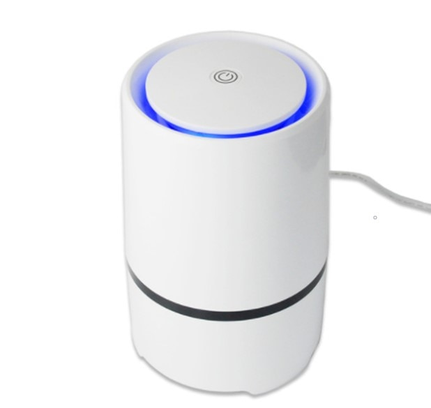 Home and Office Desktop HEPA Filter Air Purifier Portable Ionizer Negative ion USB Air purifiers LED