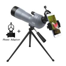 Télescope monoculaire puissant de jumelles de longue portée 20-60X60 pour lobservation des oiseaux sac à dos de Camping avec étui de téléphone trépied