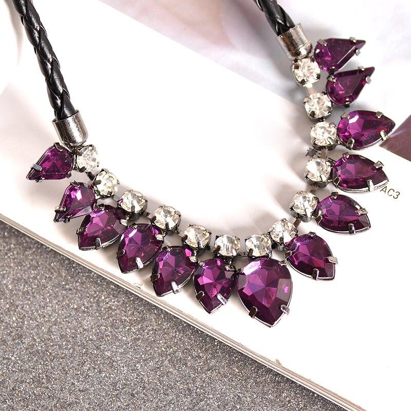 La nueva moda de flores para fiesta de cumpleaños de las mujeres negro cadena borla púrpura verde rosa collar de regalo envío gratis