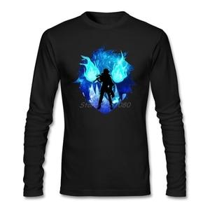 Fashion Blue Exorcist Cool T Shirt Brand Brand-clothing O-neck Cotton Long Sleeve Custom  T Shirts Fitness Men
